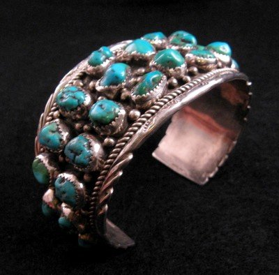 Image 0 of Native American Dead Pawn Turquoise Cuff Bracelet - Extra Large