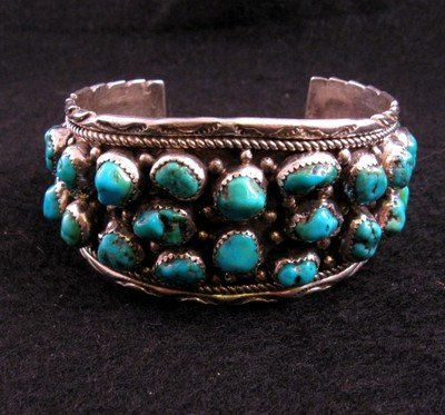 Image 1 of Native American Dead Pawn Turquoise Cuff Bracelet - Extra Large