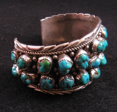 Image 2 of Native American Dead Pawn Turquoise Cuff Bracelet - Extra Large