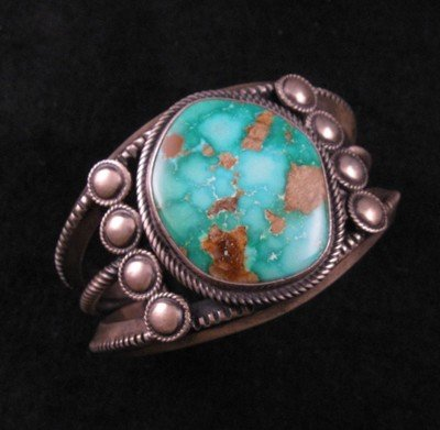 Virgil Begay Navajo Old Pawn Style Turquoise Bracelet