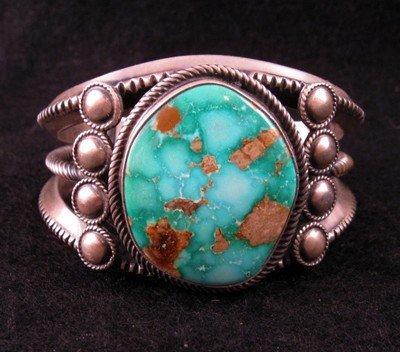 Image 4 of Virgil Begay Navajo Old Pawn Style Turquoise Bracelet
