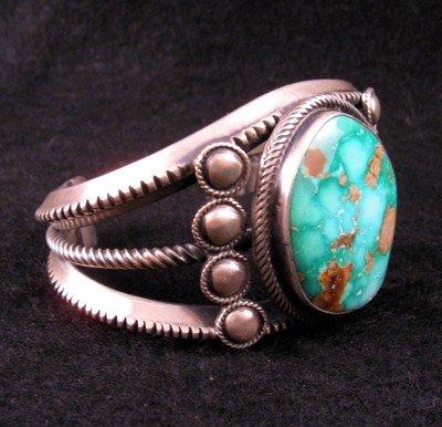Image 2 of Virgil Begay Navajo Old Pawn Style Turquoise Bracelet