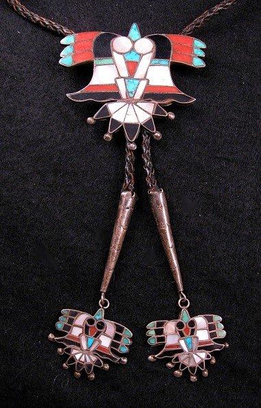 Vintage Native American Zuni Inlay Bolo