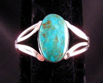 Native American Navajo Kingman Turquoise Silver Bracelet