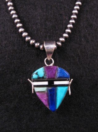 Reversible 2-Sided  Multi-stone Inlaid Pendant * Edison Yazzie * Navajo
