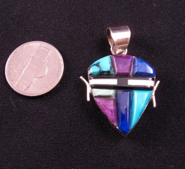 Image 2 of Reversible 2-Sided  Multi-stone Inlaid Pendant * Edison Yazzie * Navajo