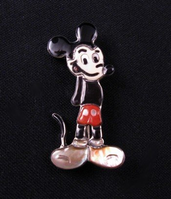 Andrea Lonjose Shirley Zuni Mickey Mouse Pin Pendant