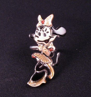 Zuni Minnie Mouse Ring, Andrea Lonjose Shirley, sz8-1/2