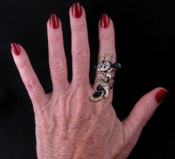 Image 1 of Zuni Minnie Mouse Ring, Andrea Lonjose Shirley, sz8-1/2