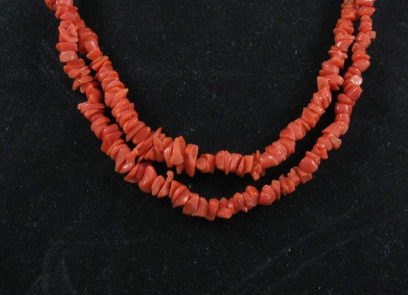 Image 2 of Two-strand 19-inch Coral Necklace