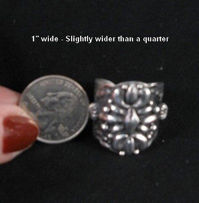Image 2 of Native American Darryl Becenti Navajo Sterling Silver Ring sz11-1/2