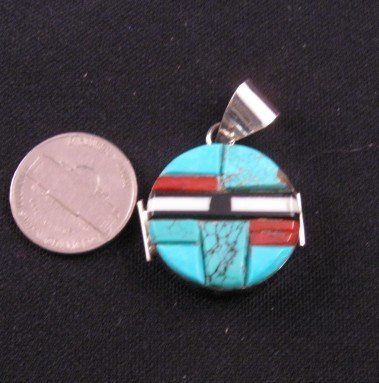 Image 0 of Reversible Two-sided Inlaid Pendant  * Edison Yazzie * Navajo