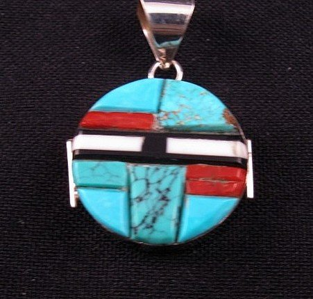 Image 2 of Reversible Two-sided Inlaid Pendant  * Edison Yazzie * Navajo