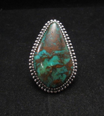 Gloria Begay Navajo Turquoise Sterling Silver Ring sz7