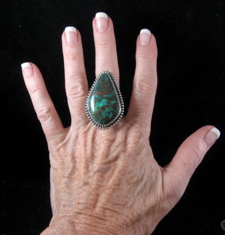 Image 1 of Gloria Begay Navajo Turquoise Sterling Silver Ring sz7