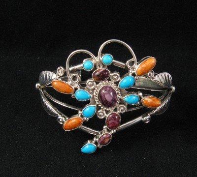 Native American Dragonfly Multigem Silver Bracelet