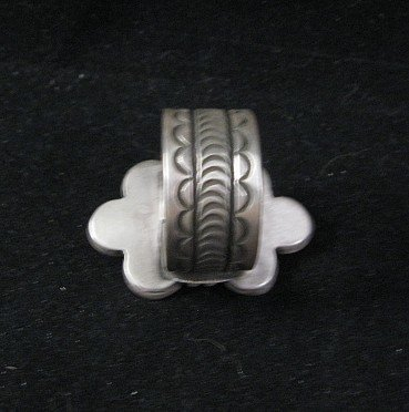 Image 2 of Navajo Alex Sanchez Turquoise Silver Ring sz7-3/4