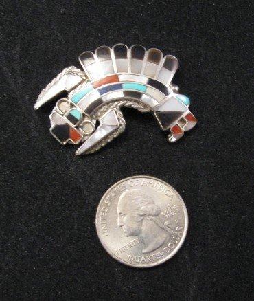 Image 1 of Dead Pawn Zuni Quinton & Margie Quam Mosaic Inlay Pin Pendant
