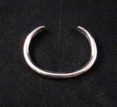 Navajo Orville Tsinnie Solid Sterling Silver Bracelet - Large
