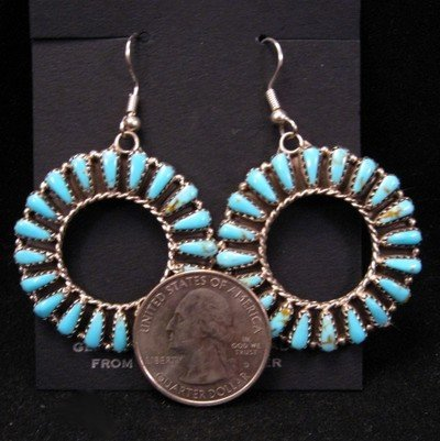 Image 1 of Navajo Dead Pawn Turquoise Cluster Earrings