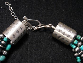 Image 2 of La Rose Ganadonegro Royston Turquoise Sterling Necklace Set - Native American