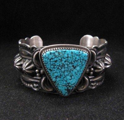 Delbert Gordon Navajo Kingman Turquoise Sterling Silver Bracelet