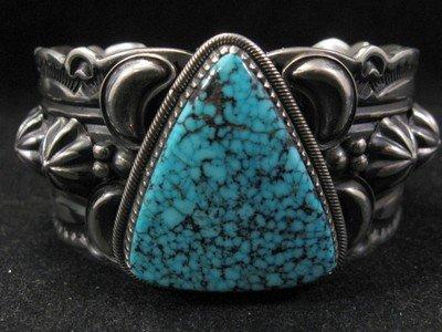 Image 2 of Delbert Gordon Navajo Kingman Turquoise Sterling Silver Bracelet