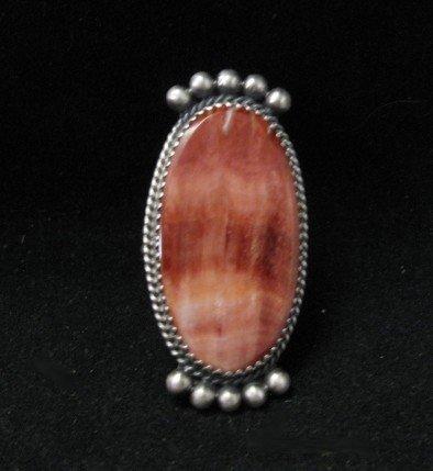 Navajo Indian Spiny Oyster Ring by Betty Joe sz9