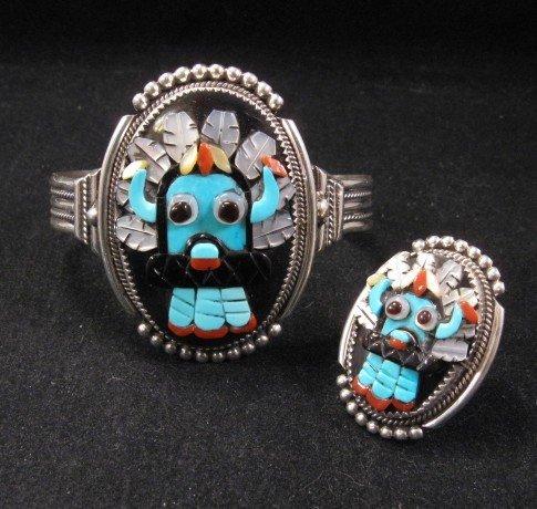 Beverly Bev Etsate - Zuni Shalako Bracelet & Matching Ring sz8-1/4