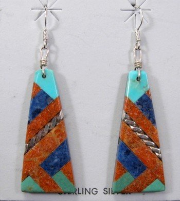 Santo Domingo Kewa Mosaic Earrings, Tanner Medina