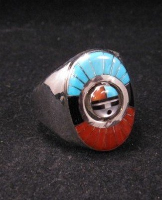 Don Dewa Zuni Sunface Spinner Ring sz11 3/4 - sz12