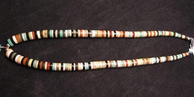Image 2 of Santo Domingo Inlaid Feather Necklace, Rudy & Mary Coriz