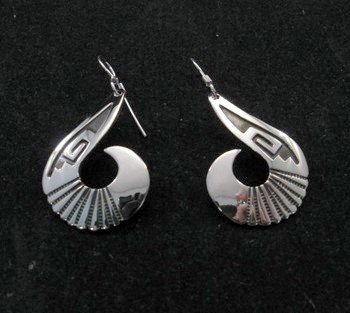 Everett & Mary Teller Navajo Sterling Silver Swirl Earrings