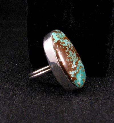 Image 1 of Big Navajo Everett & Mary Teller Royston Turquoise Ring sz8