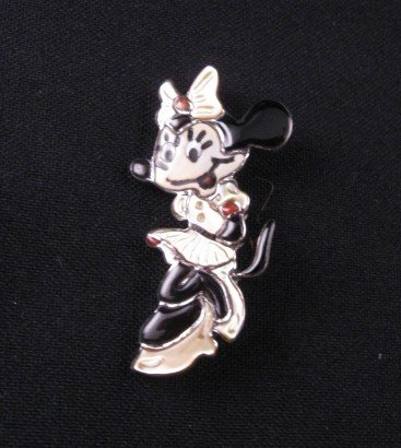 Zuni Inlaid Mickey Mouse Pin & Pendant, Andrea Lonjose Shirley