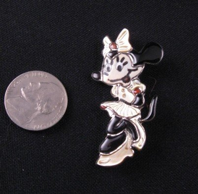 Image 1 of Zuni Disney Minnie Mouse Pin/Pendant, Andrea Shirley