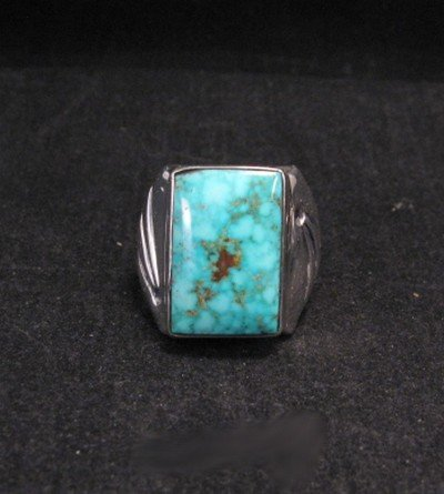 Navajo Turquoise Sterling Silver Ring sz11-1/4, Orville Tsinnie