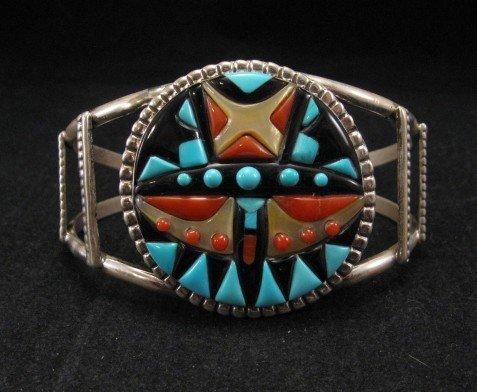 Virginia Quam Zuni Turquoise Multistone Silver Bracelet