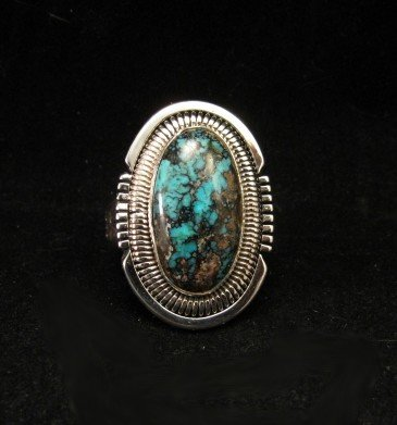 Image 0 of Walter Vandever ~ Apache Blue Turquoise Silver Ring sz7