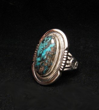 Image 1 of Walter Vandever ~ Apache Blue Turquoise Silver Ring sz7