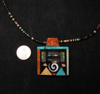 Mary Tafoya Santo Domingo Multi-Stone Inlay Necklace