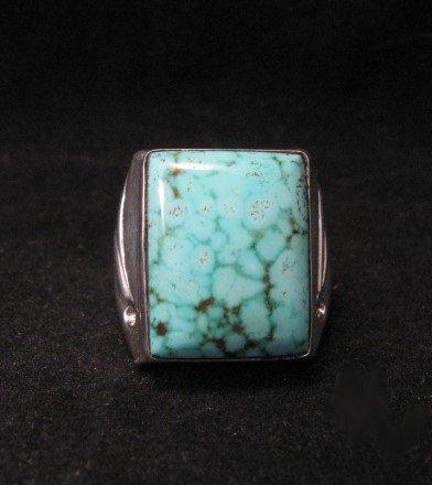 Navajo Orville Tsinnie Turquoise Silver Ring sz12