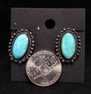 Image 1 of Vintage Native American Turquoise Earrings, Screw-backs