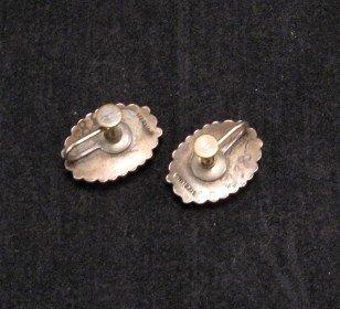Image 2 of Vintage Native American Turquoise Earrings, Screw-backs