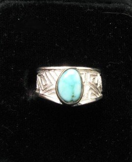Image 0 of Navajo Ronnie Henry Dry Creek Turquoise Ring, sz6