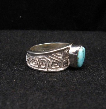 Image 1 of Navajo Ronnie Henry Dry Creek Turquoise Ring, sz6