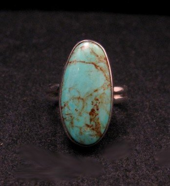 Image 0 of Everett & Mary Teller Navajo Royston Turquoise Ring sz8