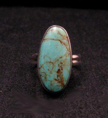 Everett & Mary Teller Navajo Royston Turquoise Ring sz8
