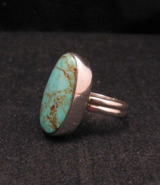 Image 1 of Everett & Mary Teller Navajo Royston Turquoise Ring sz8