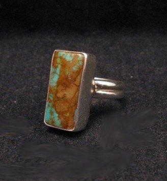 Image 1 of Navajo Everett & Mary Teller Royston Turquoise Ring sz4